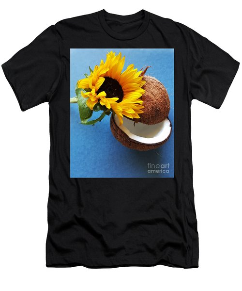 Coconut And Sunflower Harmony Men's T-Shirt (Slim Fit) by Jasna Gopic