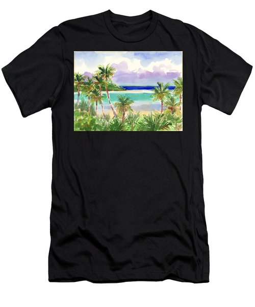 Coconut Palms And Lagoon, Aitutaki Men's T-Shirt (Athletic Fit)