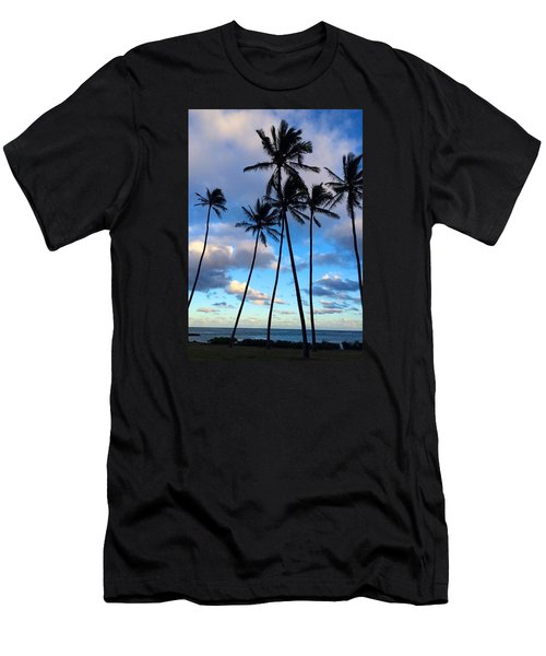 Coconut Palms Men's T-Shirt (Slim Fit) by Brenda Pressnall