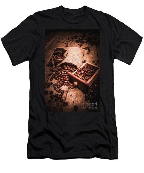 Coffee Bean Art Men's T-Shirt (Athletic Fit)