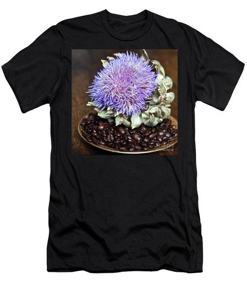 Coffee Beans And Blue Artichoke Men's T-Shirt (Athletic Fit)