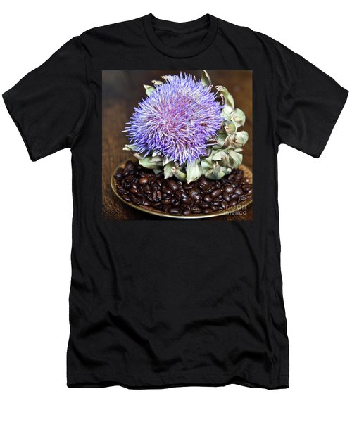 Coffee Beans And Blue Artichoke Men's T-Shirt (Athletic Fit)