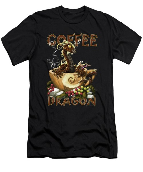 Coffee Dragon Men's T-Shirt (Athletic Fit)