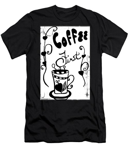 Coffee First Men's T-Shirt (Athletic Fit)