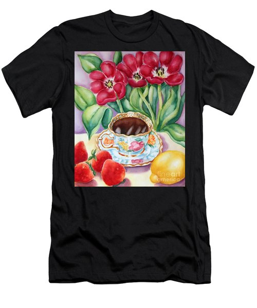 Coffee With Flavour Men's T-Shirt (Slim Fit) by Inese Poga
