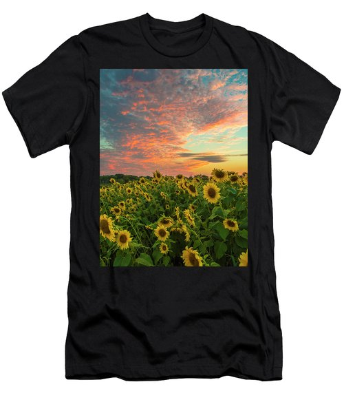 Colby Farm Sunflowers Men's T-Shirt (Athletic Fit)