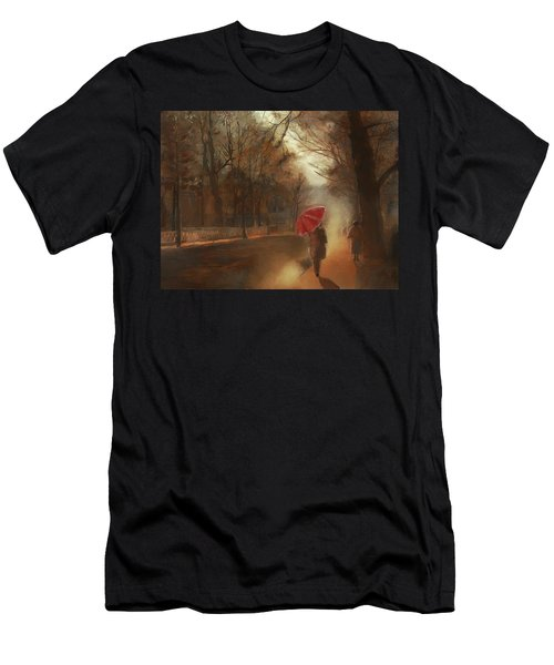 Cold Autumn Morning Painting Men's T-Shirt (Athletic Fit)