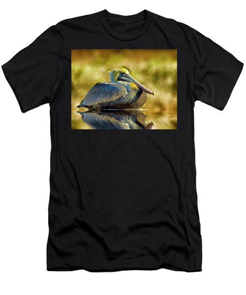 Cold Brown Pelican Men's T-Shirt (Athletic Fit)