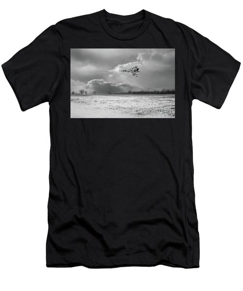 Men's T-Shirt (Athletic Fit) featuring the photograph Cold War Warrior Bw Version by Gary Eason