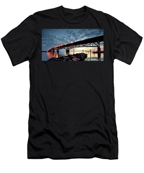 Coleman Bridge Reflections Men's T-Shirt (Athletic Fit)