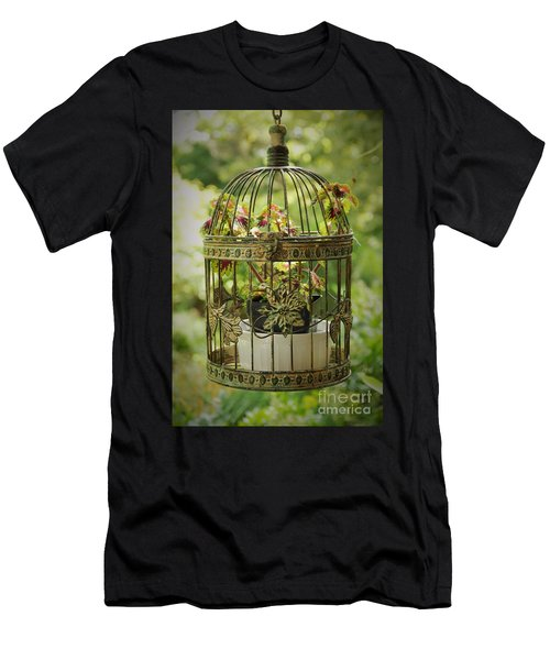 Coleus In Vintage Birdcage Men's T-Shirt (Athletic Fit)