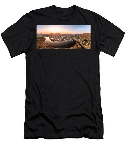 Colinsville, Connecticut Sunrise Panorama Men's T-Shirt (Athletic Fit)