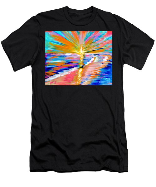 Collection Art For Health And Life. Painting 5. Energy  Of  Life Men's T-Shirt (Athletic Fit)