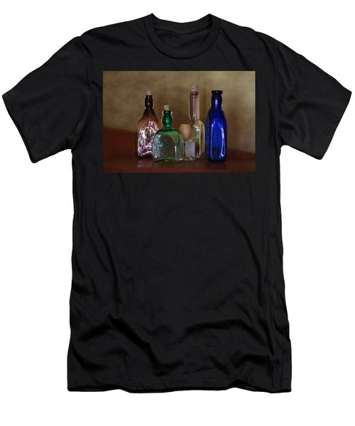 Collection Of Vintage Bottles Photograph Men's T-Shirt (Athletic Fit)