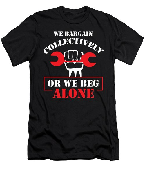 Collective Bargaining Pro Labor Union Worker Protest Dark Men's T-Shirt (Athletic Fit)