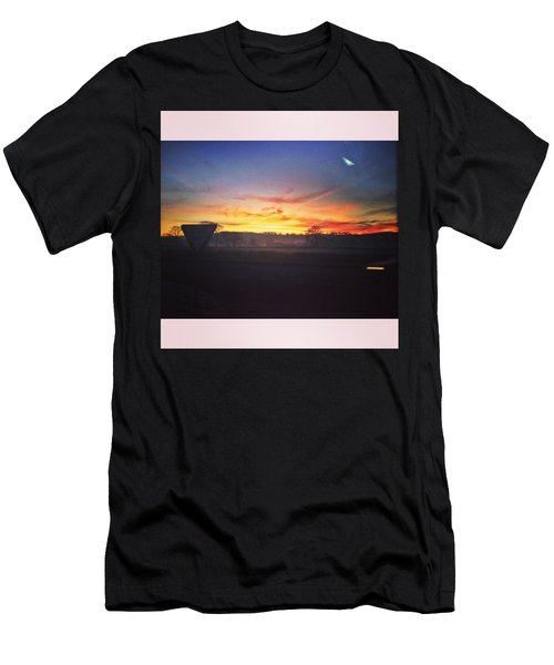 College Bus.  #sunrise #sun #wales Men's T-Shirt (Athletic Fit)