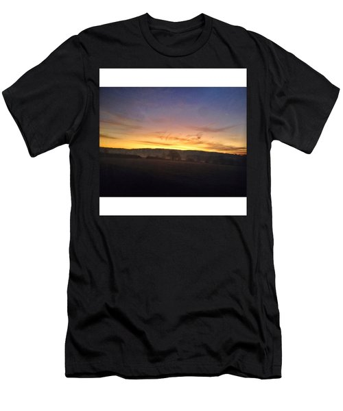 College Bus. #sunrise Men's T-Shirt (Athletic Fit)