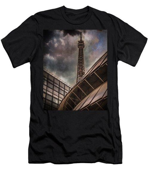 Paris, France - Colliding Grids Men's T-Shirt (Athletic Fit)