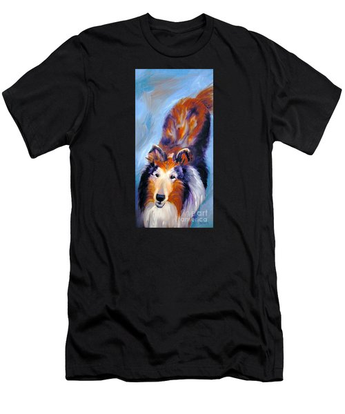 Collie Sable Rough 1 Men's T-Shirt (Athletic Fit)