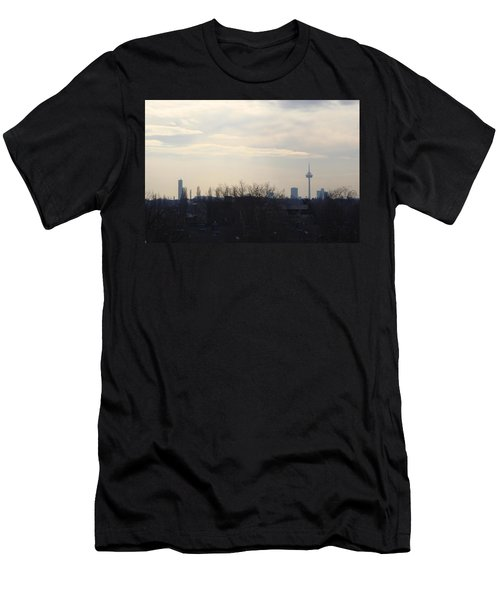 Cologne Skyline  Men's T-Shirt (Slim Fit) by Michael Paszek