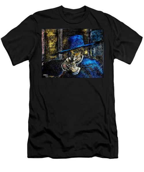 Men's T-Shirt (Slim Fit) featuring the painting Colonel Mortimer's Shot by Seth Weaver