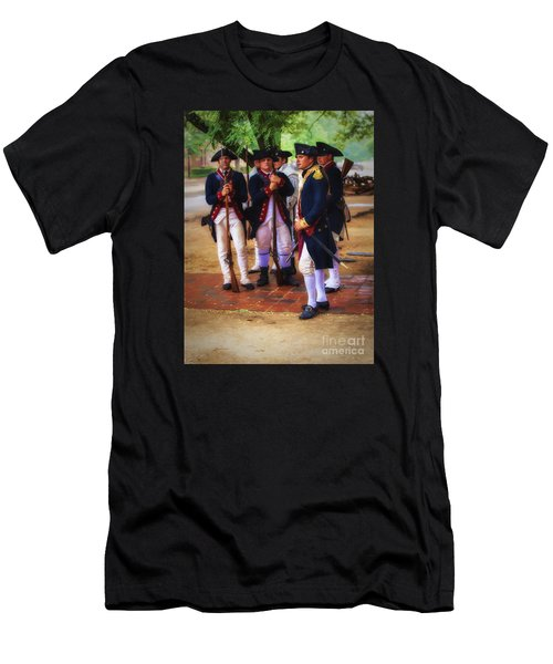 Men's T-Shirt (Slim Fit) featuring the photograph Colonial Army  ... by Chuck Caramella