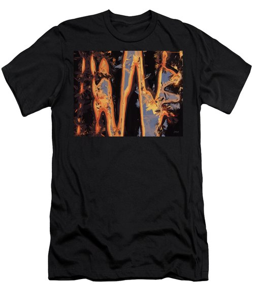 Color Abstraction Xli Men's T-Shirt (Slim Fit) by David Gordon