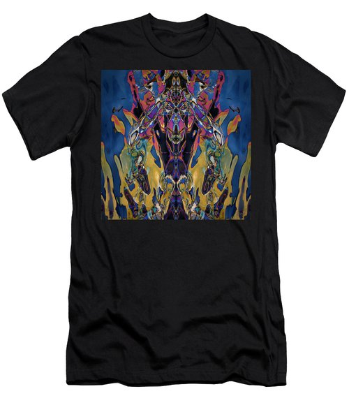 Color Abstraction Xxi Men's T-Shirt (Athletic Fit)