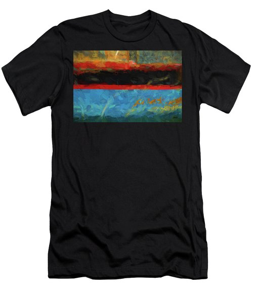 Color Abstraction Xxxix Men's T-Shirt (Athletic Fit)