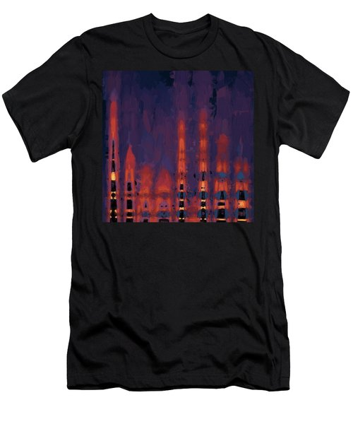 Color Abstraction Xxxviii Men's T-Shirt (Athletic Fit)