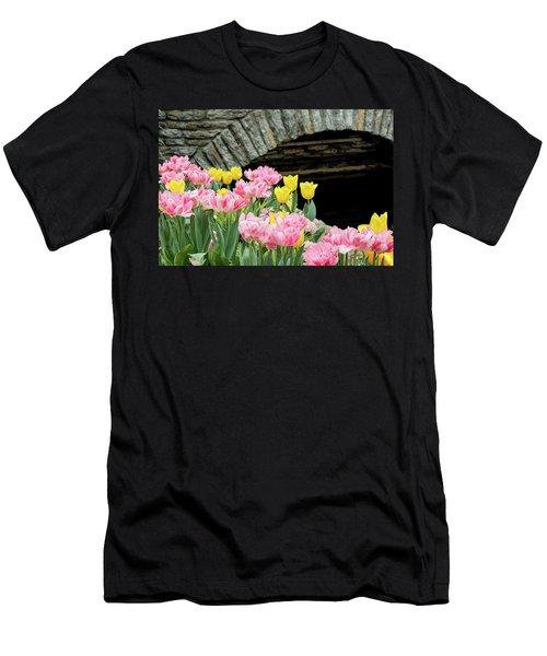 Color Along The Pond Men's T-Shirt (Athletic Fit)