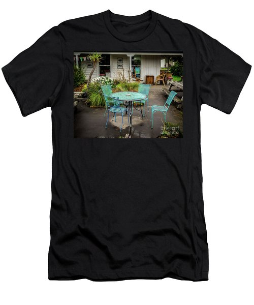 Men's T-Shirt (Slim Fit) featuring the photograph Color At Cafe by Perry Webster