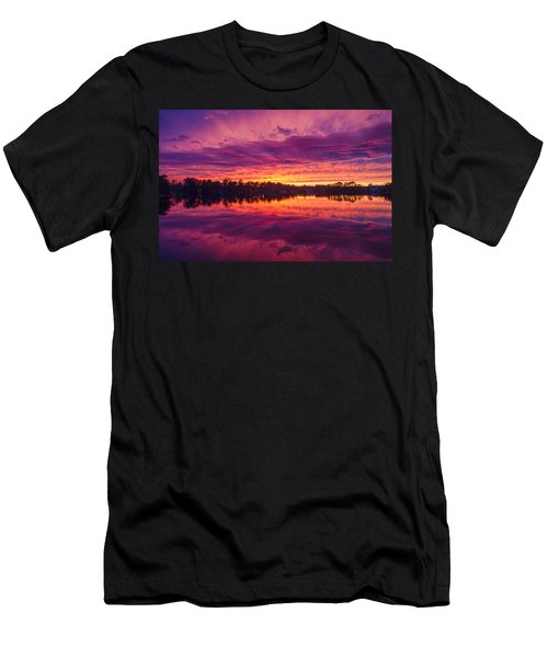 Color Explosion Sunset Men's T-Shirt (Athletic Fit)
