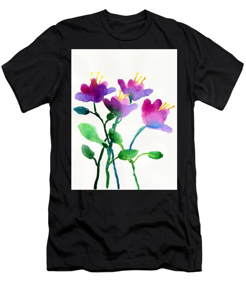 Color Flowers Men's T-Shirt (Athletic Fit)
