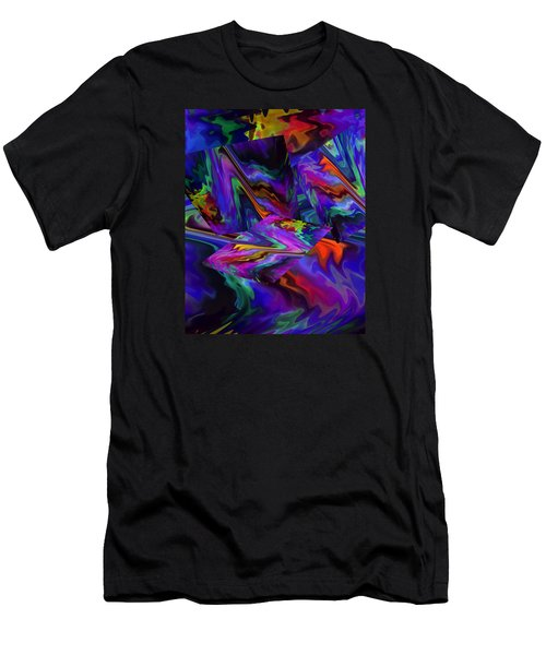Men's T-Shirt (Slim Fit) featuring the digital art Color Journey by Lynda Lehmann