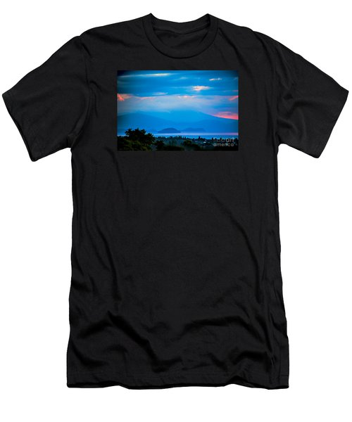 Color Over The Lake Men's T-Shirt (Slim Fit) by Rick Bragan