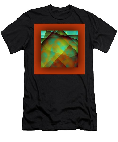 Men's T-Shirt (Athletic Fit) featuring the digital art Color Package - Orange by Mihaela Stancu