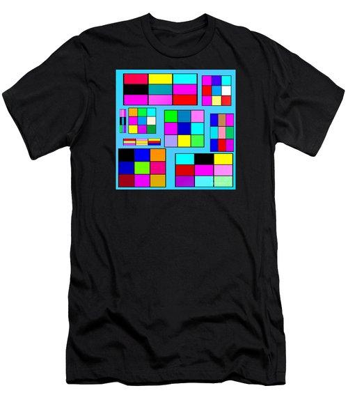 Color Squares Men's T-Shirt (Athletic Fit)
