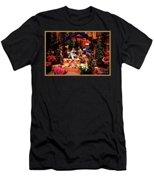 Color Vibe Nativity - Border Men's T-Shirt (Athletic Fit)