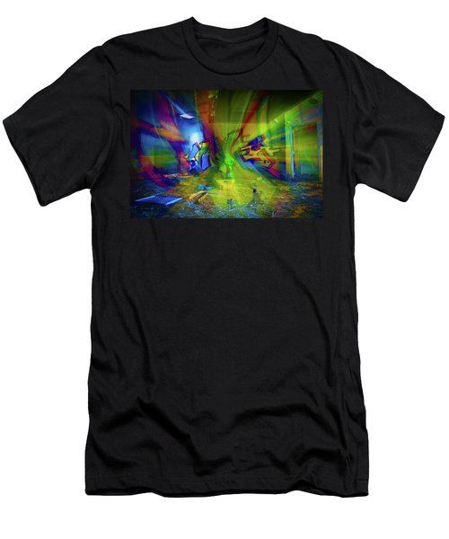 Color Wave Men's T-Shirt (Athletic Fit)
