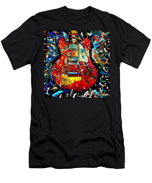 Color Wheel Guitar Men's T-Shirt (Athletic Fit)