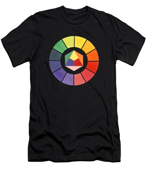 Color Wheel Men's T-Shirt (Slim Fit) by Julio Lopez
