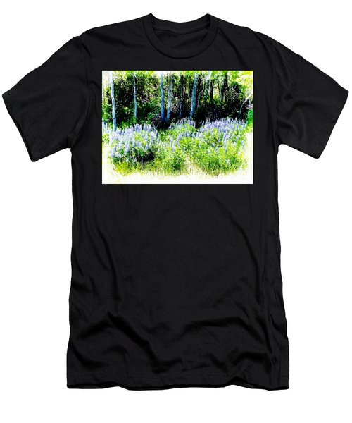 Colorado Apens And Flowers Men's T-Shirt (Athletic Fit)