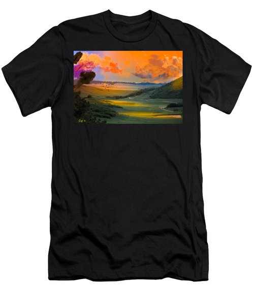 Colorado Big Valley Sunrise Men's T-Shirt (Athletic Fit)