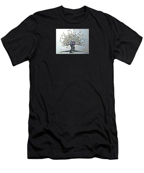 Colorado Flag Love Tree Men's T-Shirt (Athletic Fit)