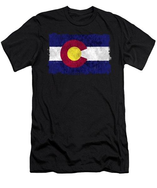 Colorado Flag Men's T-Shirt (Athletic Fit)