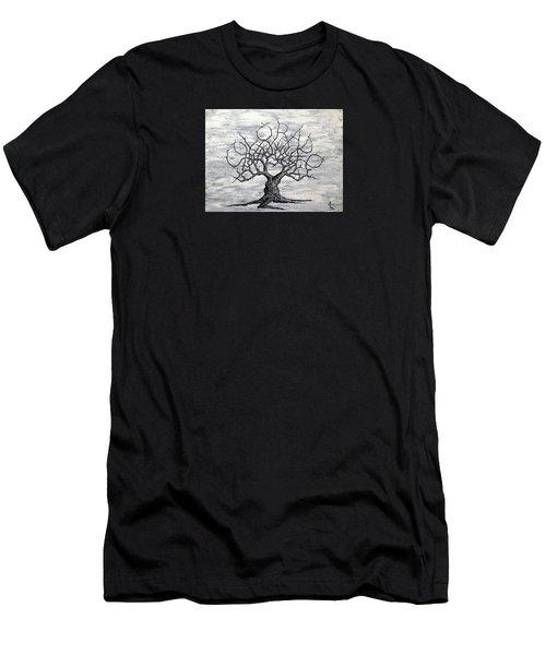 Colorado Love Tree Blk/wht Men's T-Shirt (Athletic Fit)