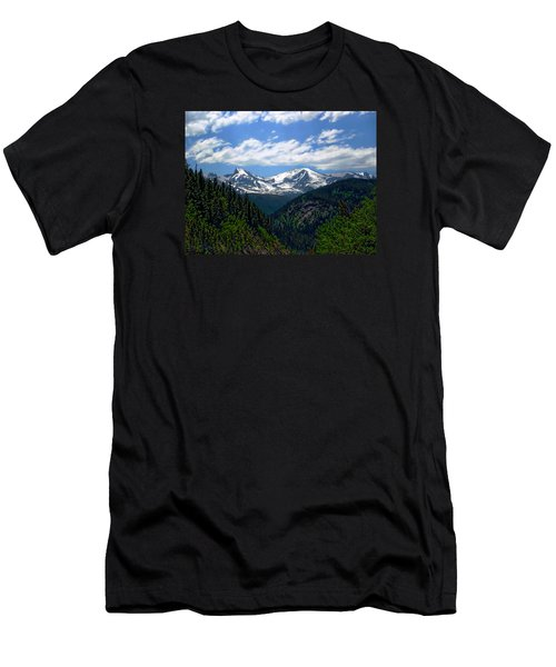 Colorado Rocky Mountains Men's T-Shirt (Slim Fit) by Anthony Dezenzio