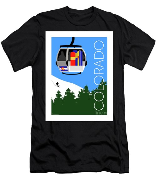 Colorado Ski Country Blue Men's T-Shirt (Athletic Fit)