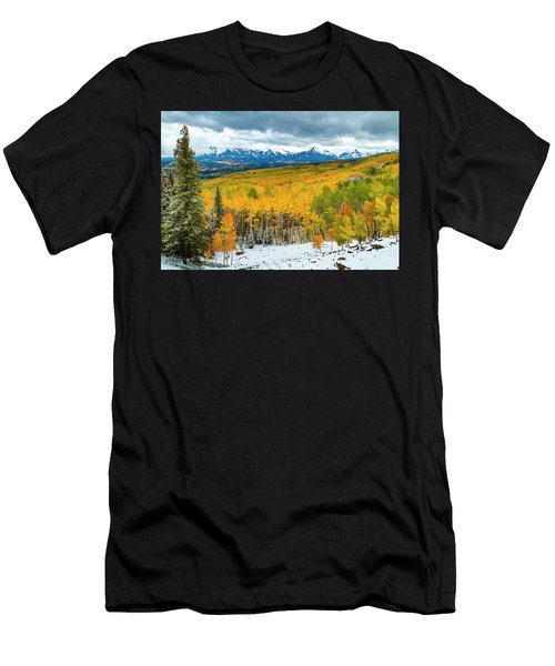 Colorado Valley Of Autumn Color Men's T-Shirt (Athletic Fit)